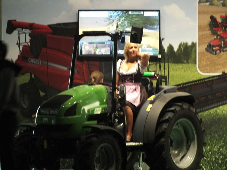 Yes, we still are at the Gamescom games fair. It's not a mistake, it's promo for a agriculture simulation game.