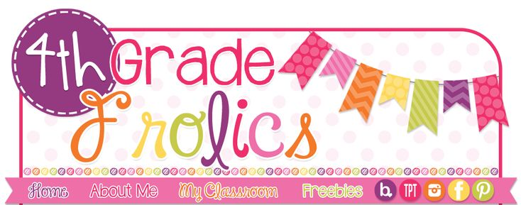 4th Grade Frolics; great ideas for all subjects, Monday Make-Its, classroom decor