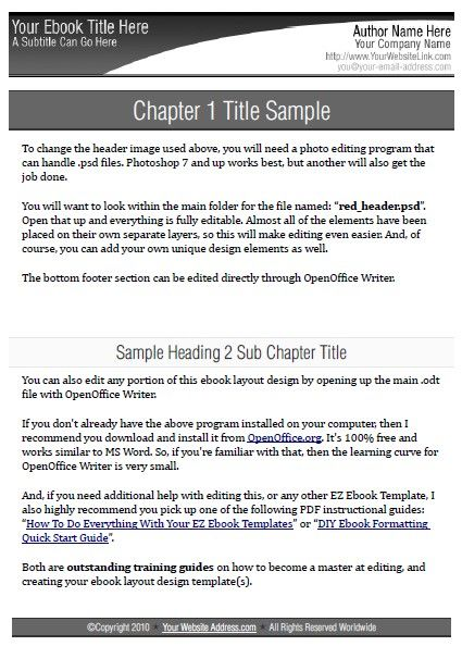 7 best MS Word Ebook Template images on Pinterest Blog, Amp and - ms word report templates