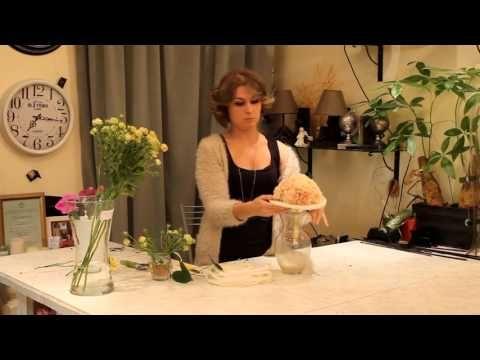 Уроки флористики Славы Роска. Мастер-класс Виктории Орловой по свадебным букетам - YouTube
