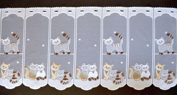 Details Zu Katzen Scheibengardine In 7 Breiten Kätzchen Kindergardine  Bistrogardine Küche