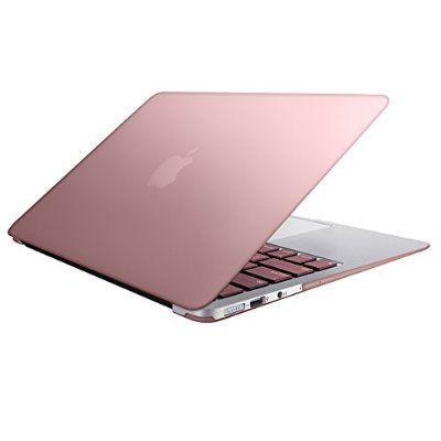 MacBook-Air-13, SlickBlue Lightweight Ultra Slim Metallic Matte Hard Case Cover With Keyboard Skin for MacBook Air 13-Inch (A1369/A1466) - Rose Gold