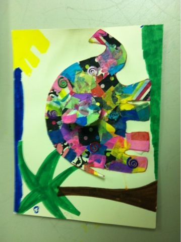 Elmer the Elephant activity