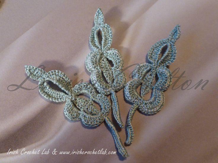 """Irish Crochet Motif - Leaf """"Wedding""""."""