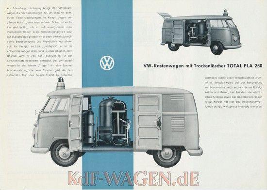 VW - 1962 - VW Kastenwagen mit Trockenlöscher TOTAL PLA 250 - 152 648 - [8906]-1