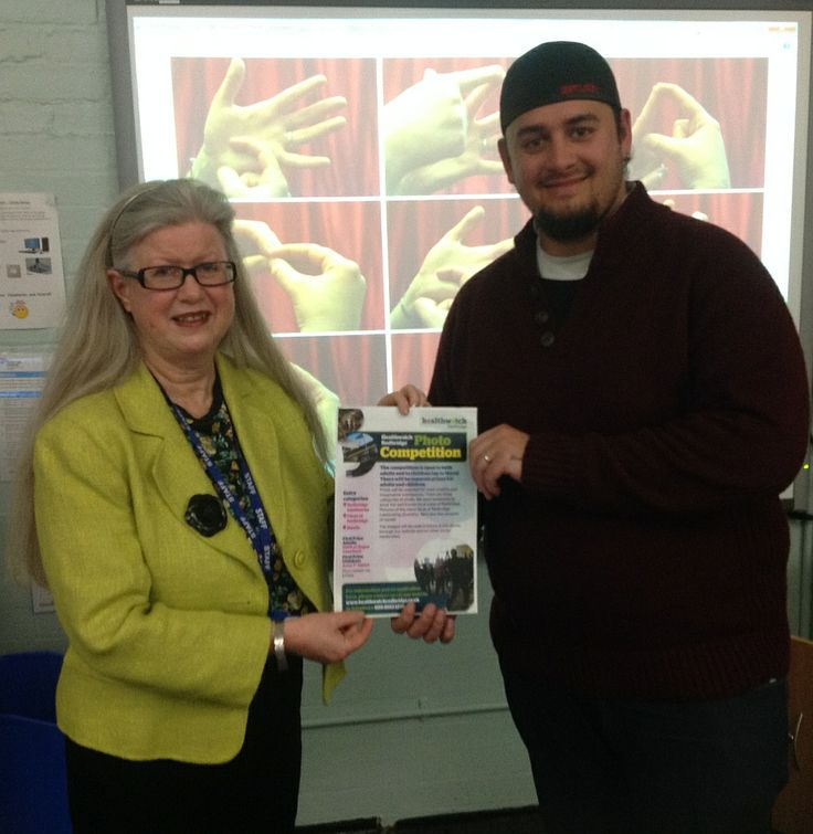 Conrad Kaad with Joni Cunningham, Principal of Redbridge Institute