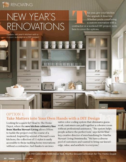 Martha stewart kitchen cabinets from lonny magazine graphic inspiration magazines catalog - Martha stewart cabinets catalog ...