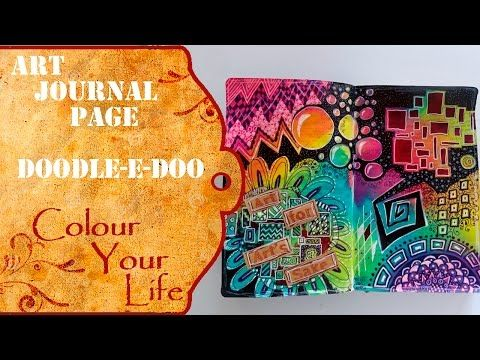 How to create a doodeled Art Journal Page - YouTube