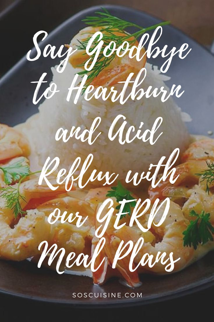 With our quick and delicious GERD Meal Plans, following the recommended diet for Gastroesophageal Reflux Disease (GERD) and hiatal hernia has never been easier. This diet relieves GERD symptoms like pain and acid reflux while respecting nutritional guidelines necessary for maintaining a healthy diet.