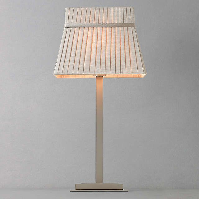 BuyJohn Lewis Audrey Square Shade Table Lamp, Taupe Online at johnlewis.com