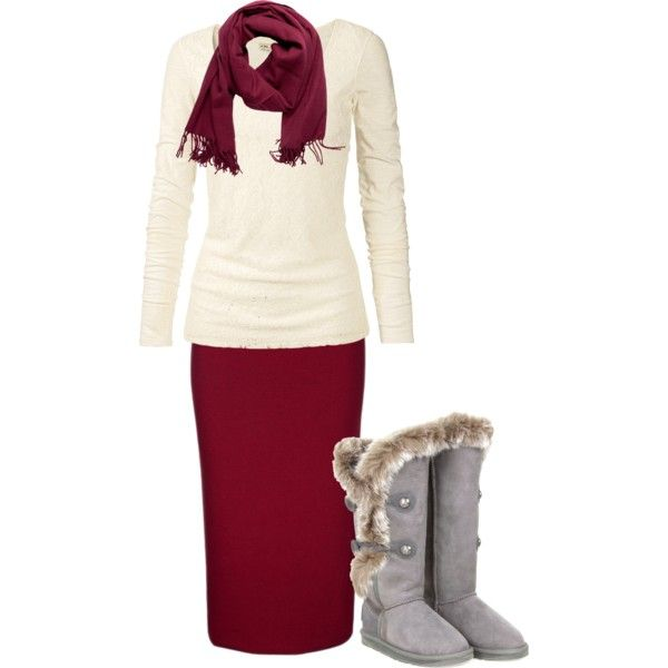 I have a burgundy pencil skirt like this with a broken invisible zipper. This is inspiring me to fix it. hideous boots btw.