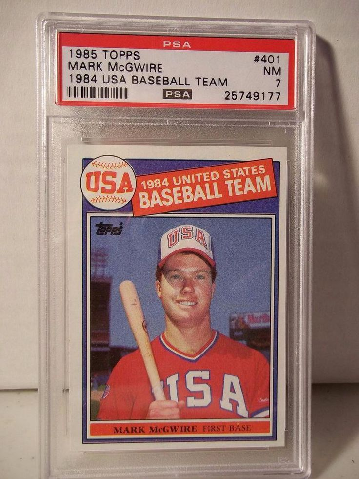 1985 topps mark mcgwire rookie psa nm 7 baseball card 401