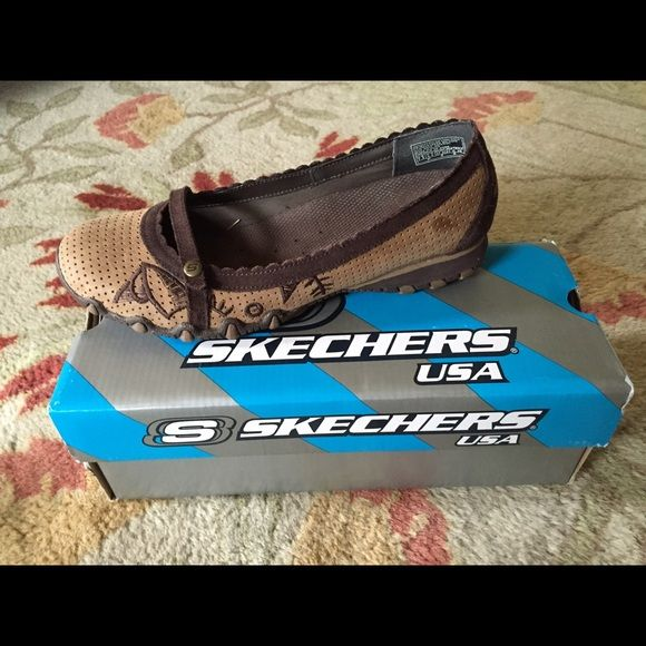 Skechers Biker's Spell Flats These Skechers Bikers are so comfortable and have a great pattern on the side. They are in great shape! Skechers Shoes Flats & Loafers