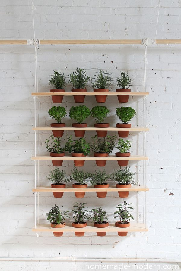 Weekend Project: How to Make a DIY Hanging Garden | Man Made DIY | Crafts for Men | Keywords: food, decor, DIY, garden