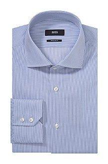 Regular fit business shirt 'Gerald' with shark collar, Open Blue