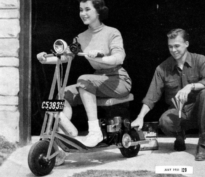 Vintage Gas Scooter Plans by Vintagestopover on Etsy