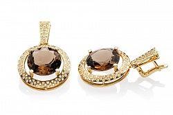Купить золотые серьги с кварцем и бриллиантами Iris ➤ http://zolotoy-standart.com.ua/catalog/sergi-s-brilliantami/zolotye-sergi-s-kvartsem-i-brilliantami-iris-e0452/