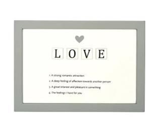 Aşk Açıklamalı Scrabble Tabela