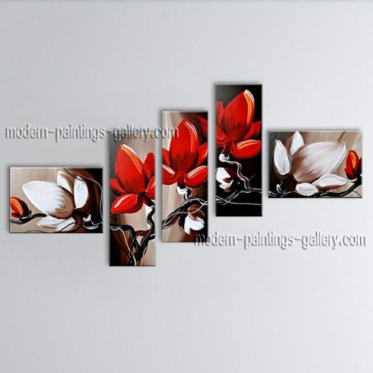 Huge Hand Painted Abstract Floral Painting On Canvas Contemporary Wall Art  #2693
