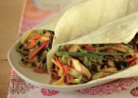 Vegetable Moo Shu Wraps