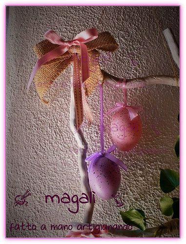 magalì: Pasqua ghirlanda - fuoriporta quadrato