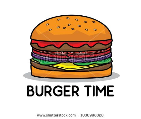 big burger cartoon design illustration.cartoon style design.designed for food ad beverage graphic illustration
