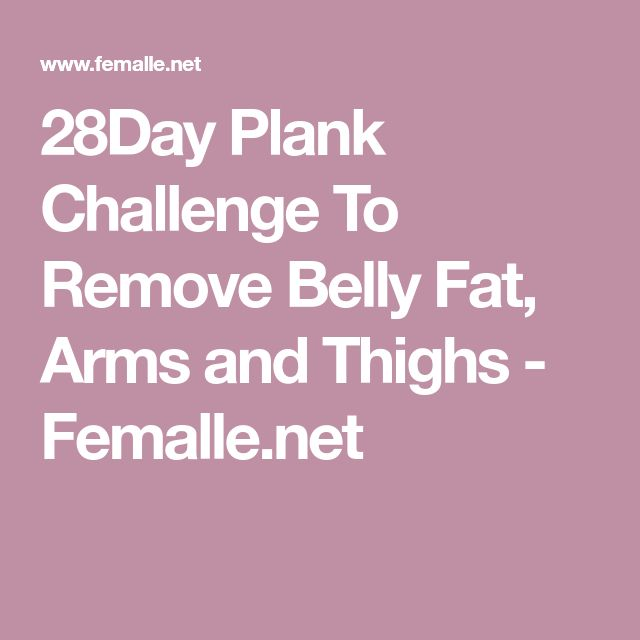 28Day Plank Challenge To Remove Belly Fat, Arms and Thighs - Femalle.net