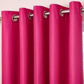 Pink Blackout Eyelet Curtains