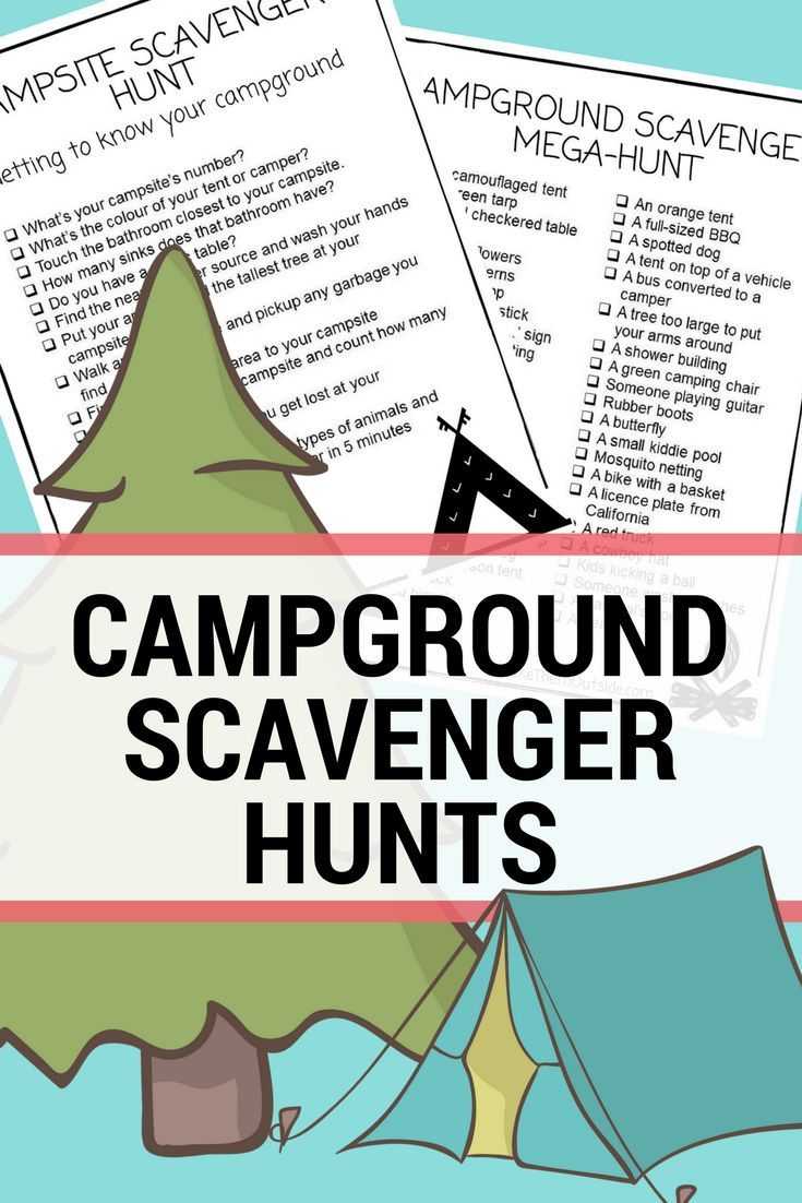 Grab These Printable Campground Scavenger Hunts Camping With