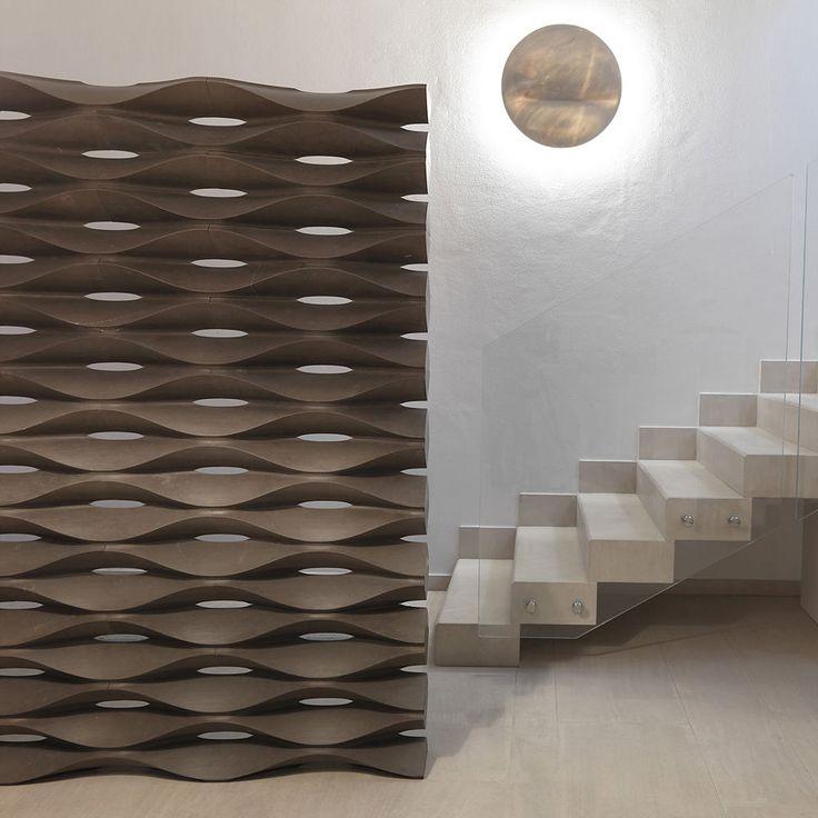 Contemporary screen / metal ONDA Lithos Design