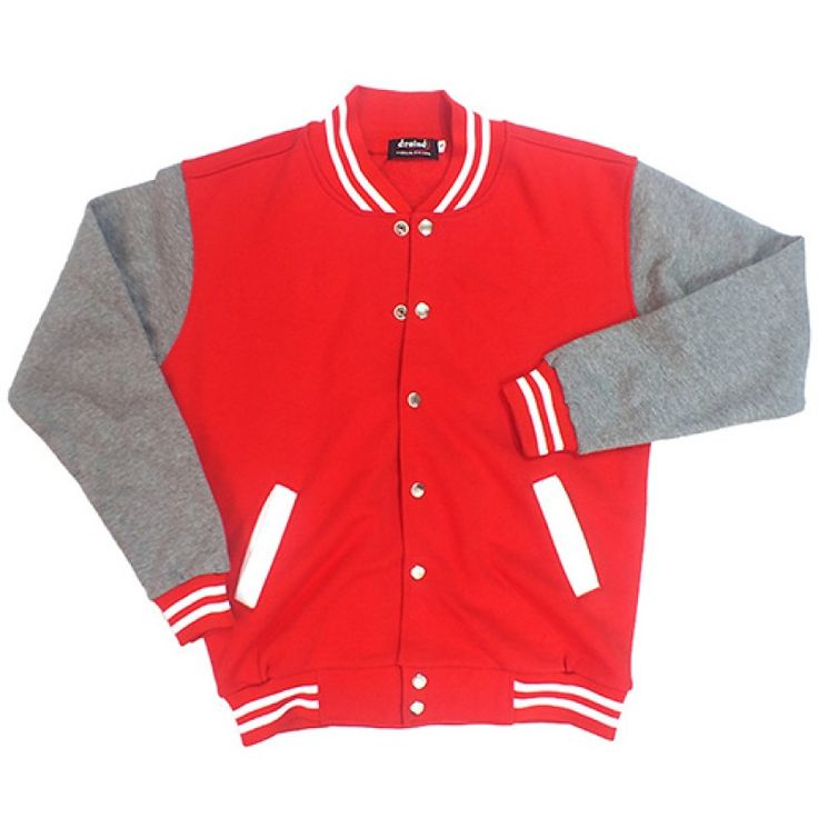 Varsity Jacket Red Grey
