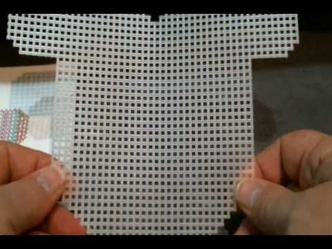 ▶ How to Cut and Count Plastic Canvas.wmv - YouTube