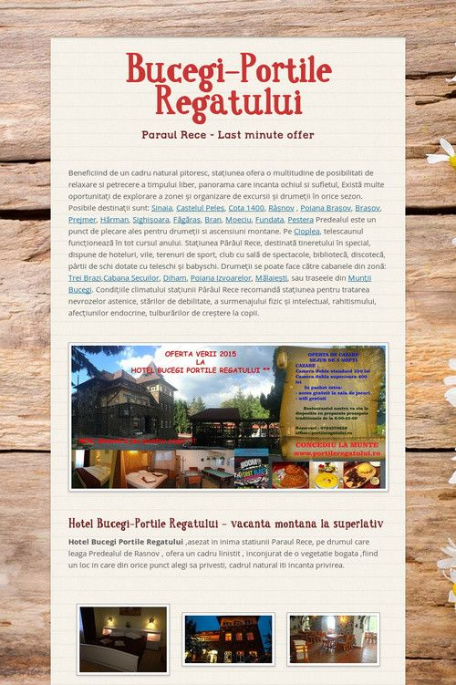 Help spread the word about Bucegi-Portile Regatului. Please share! :)