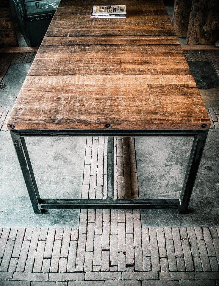 17 beste idee u00ebn over Vierkante Tafels op Pinterest   Rustieke keukentafels, Keukentafels en