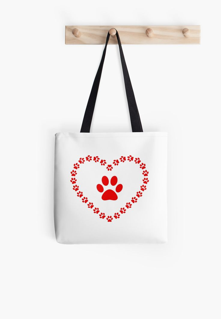 """""""Paws - heart"""" Tote Bags by Stock Image Folio 