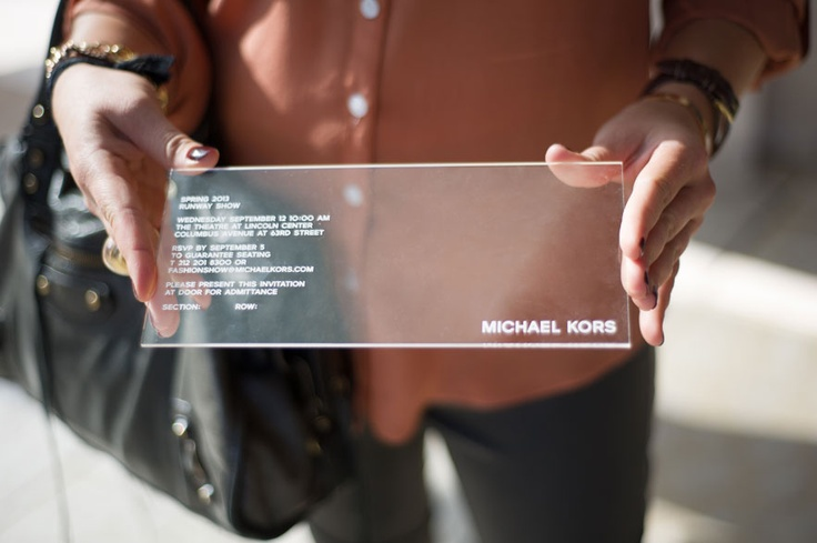 MICHAEL KORS invitation NYFW - Street looks at New York Fashion Week- Day 4