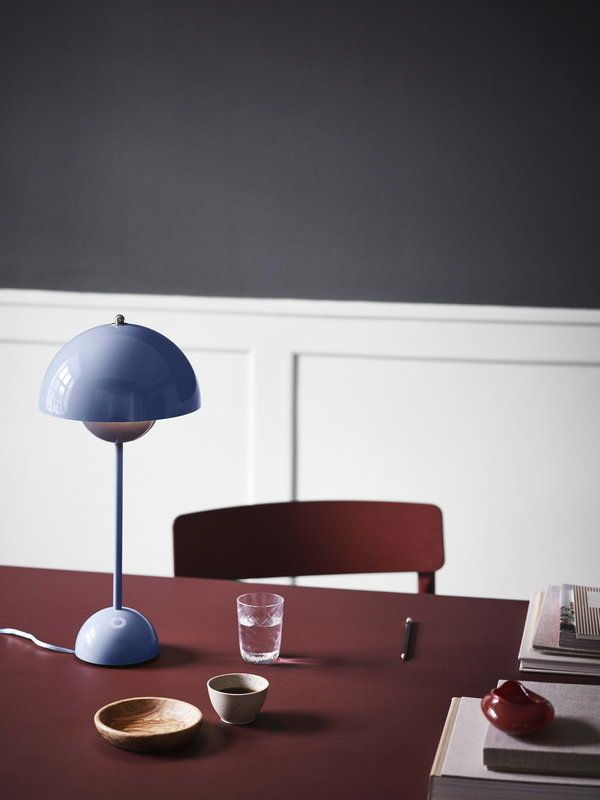 Tradition Flowerpot Vp3 Table Lamp Light Blue Lamp Verner Panton Table Lamp