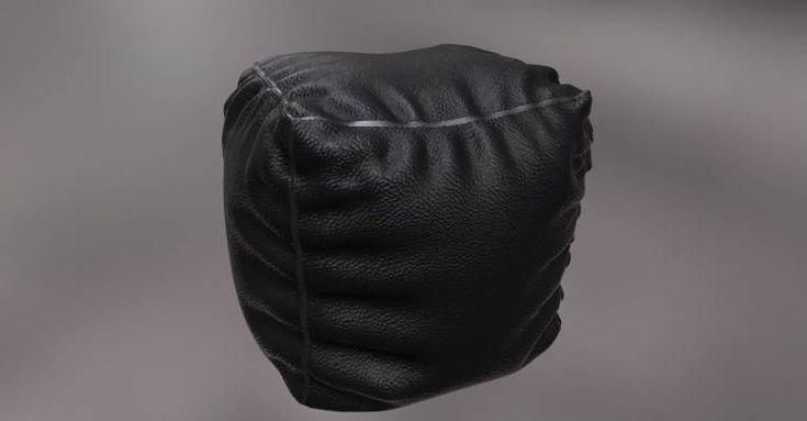 Bean Bag Ottoman Model, John Malcolm on ArtStation at https://www.artstation.com/artwork/92wyW