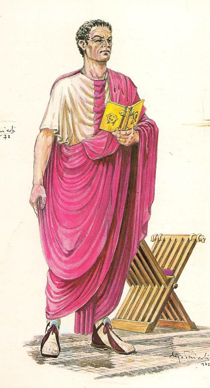 LORUM Subarmalis profundum. Banda ancha de género envuelta alrededor del cuerpo que dio origen, posteriormente , al pallium sacerdotal. S e observa en los trajes del consul romano.