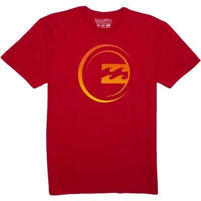 Camiseta Billabong Men's M4534MOD Modular T Shirt Red #Camisetas #Billabong
