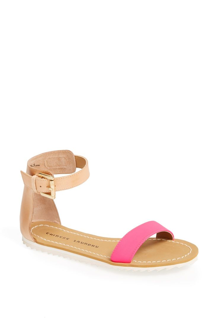 Sandals with just a hint of pink!