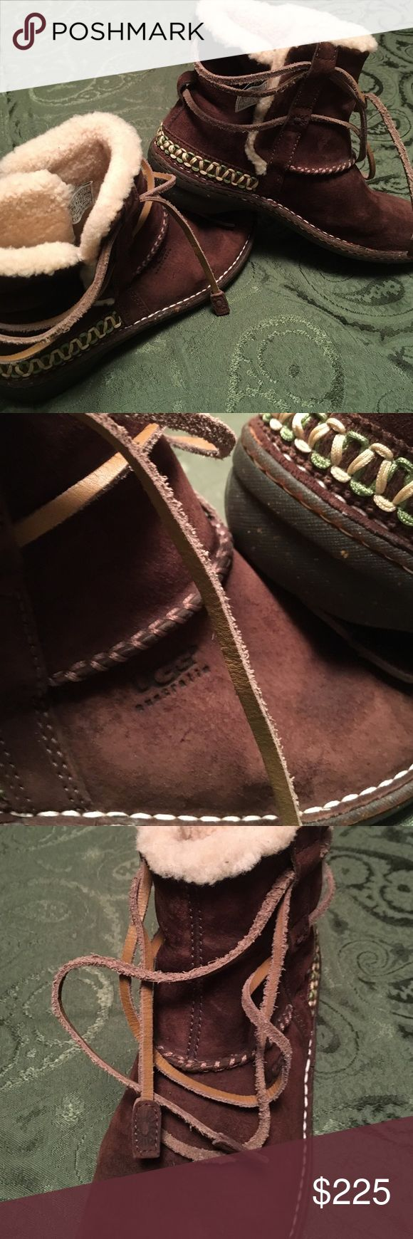 NWOT VINTAGE UGGS Never Seen This Style Before I Bought These Online From UGG - at least 20 years ago.       Need any up-close #s or photos- ask.        ✨🛍✨ UGG Shoes Lace Up Boots