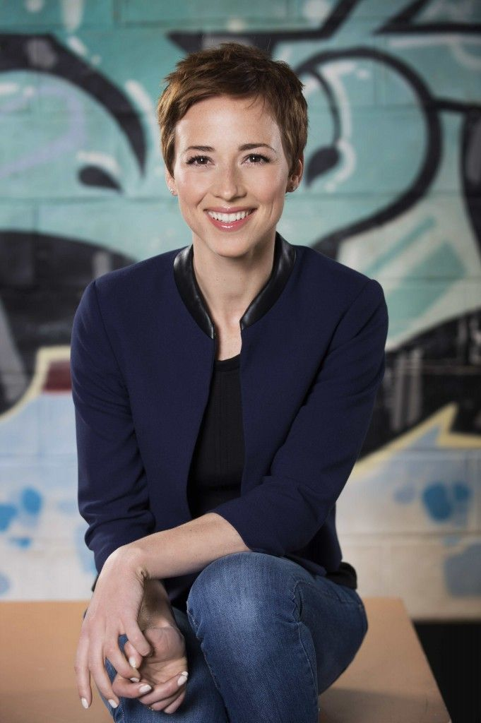 Karine Vanasse -- Seriously! Oh the hair! I'd have to have a really brave moment to do it, but it is amazing!