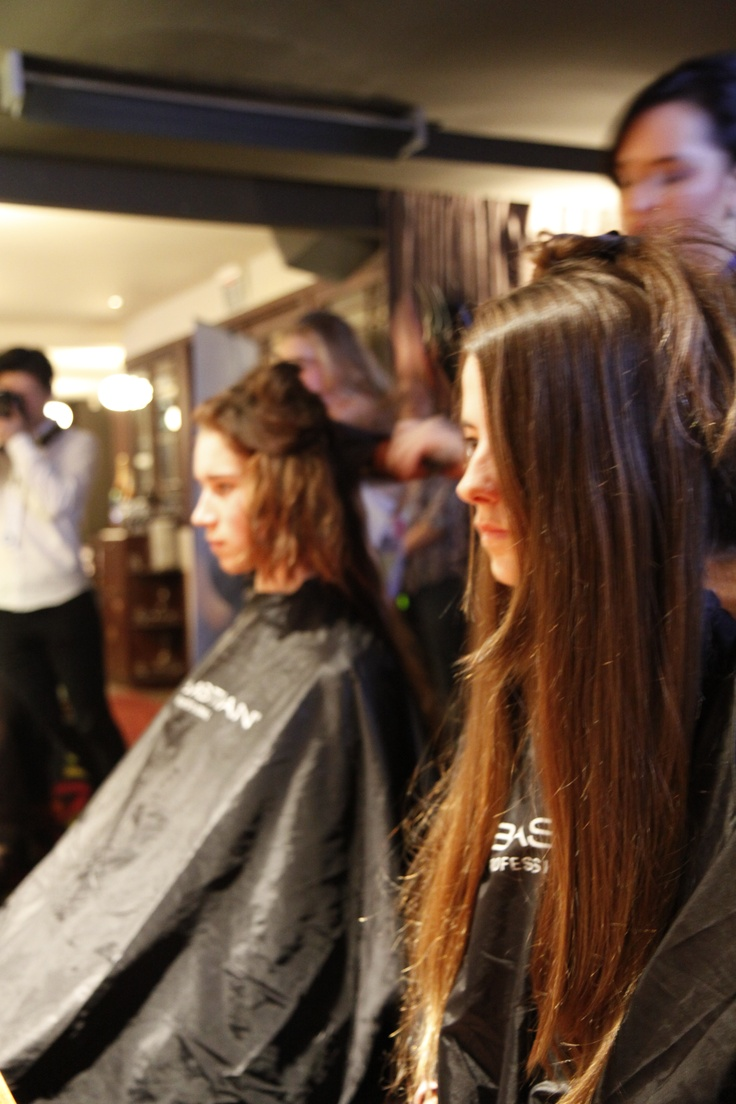 The hair was sleek and long for the show. #models and #haristylists.  BMW Fashion in the Capital.