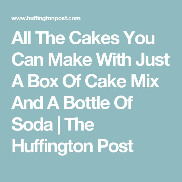 how to make a cake with bicarbonate of soda