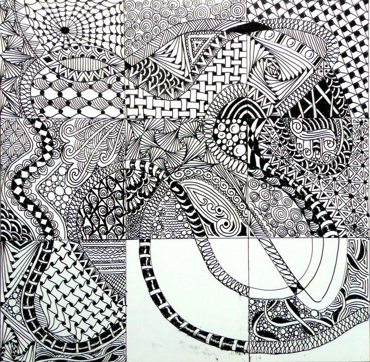 Xplore & Xpress: The Zentangle Inspired Art Project -1