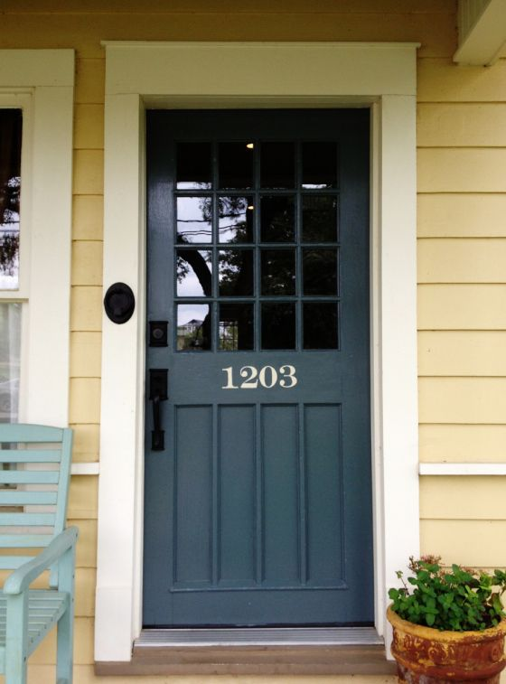 A New, Old Front Door | Shutters For House | Pinterest | Painted Front Doors,  Yellow House Exterior And House Front Door