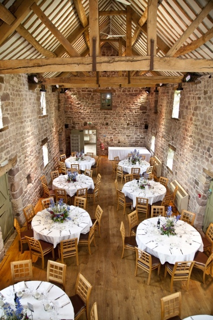 The East Barn ready for our Reception at The Ashes Wedding Venue Staffordshire