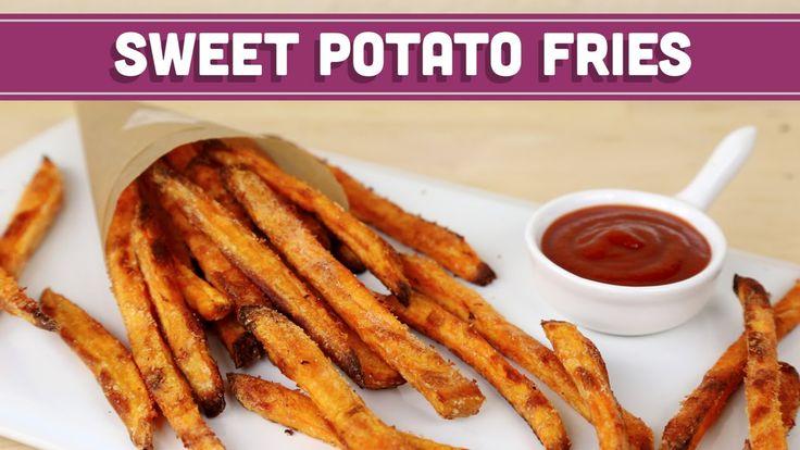 How To Make CRISPY Baked Sweet Potato- http://mindovermunch.com/?portfolio=crispy-baked-sweet-potato-fries
