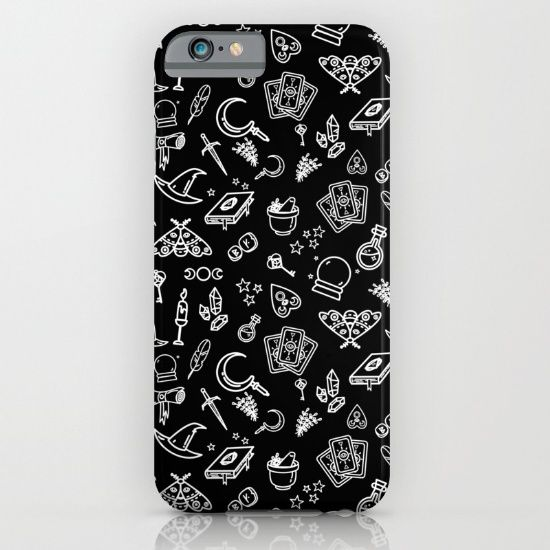 Modern Witch - Black iPhone & iPod Case